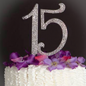 15 Para Pastel O Centro De Mesa Plateado