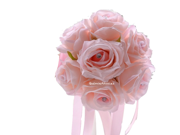 Ramos artificiales para fiesta rosa