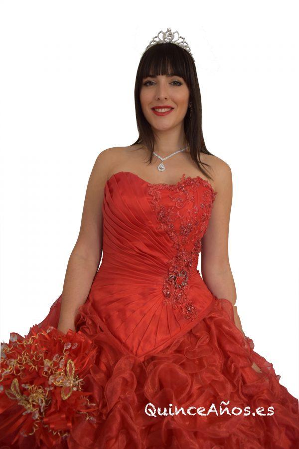 Vestido Rojo 2 piezas con Corsé ajustable.
