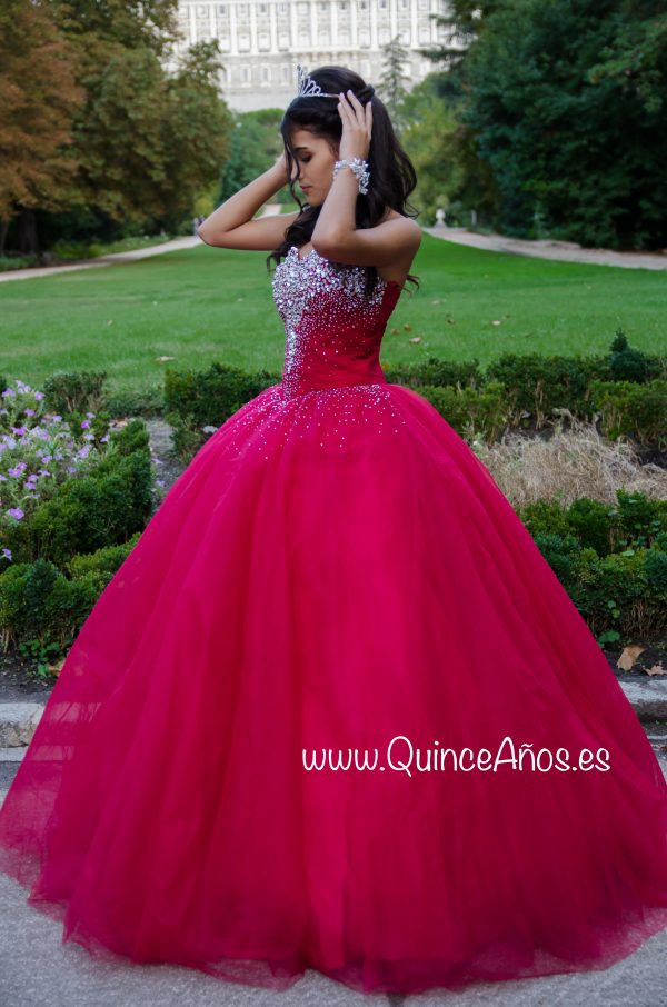 Vestido quinceañera rojo