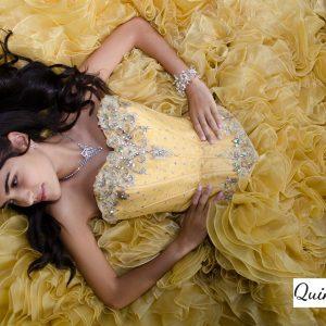 vestido 15 amarillo