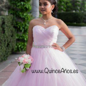 Vestido 15 años rosa