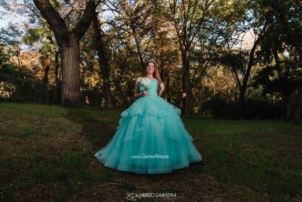 vestido princesa 15 años